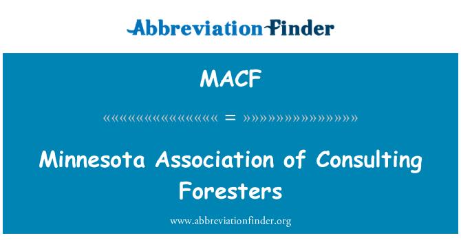 MACF: Minnesota Asociación de Silvicultores de consultoría