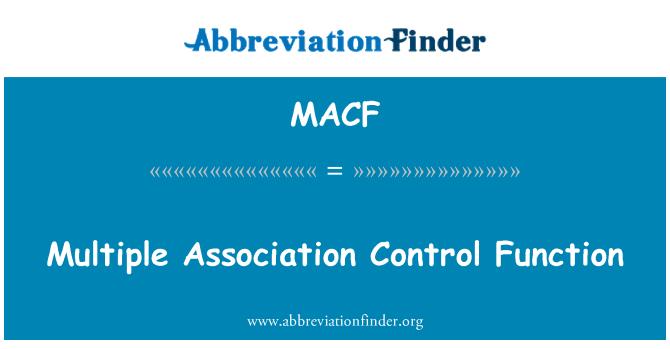 MACF: Birden çok ilişkilendirme denetim işlevi