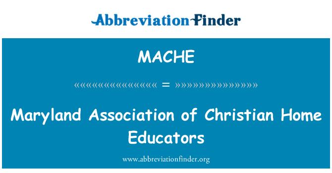 MACHE: Asociación de Maryland de los educadores del hogar cristiano