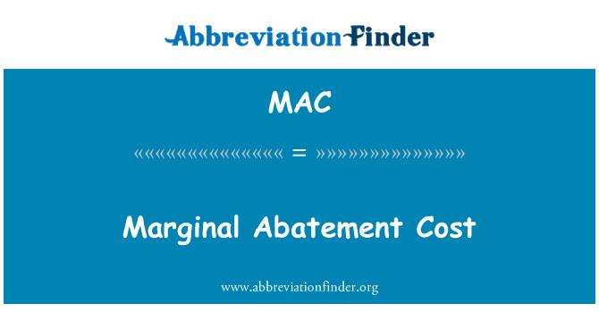 MAC: Marginal Abatement Cost