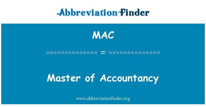 MAC: Master of Accountancy