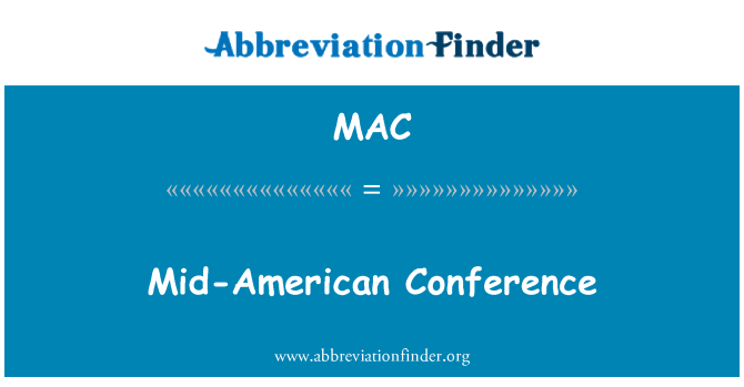 MAC: Mid-American Conference