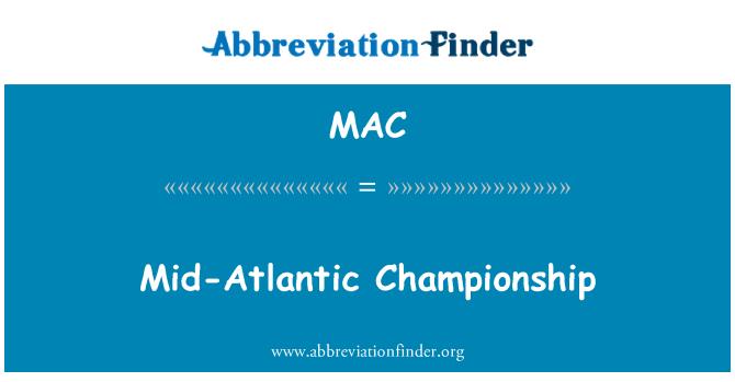 MAC: Mid-Atlantic Championship