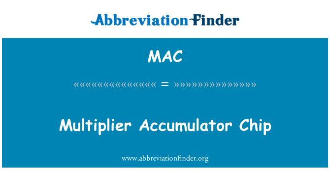 MAC: Multiplier Accumulator Chip