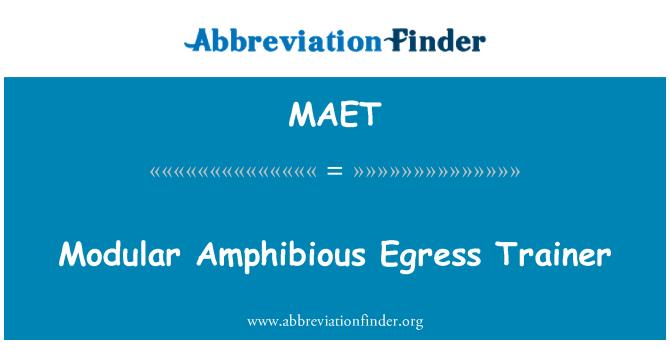 MAET: Modular Amphibious Egress Trainer