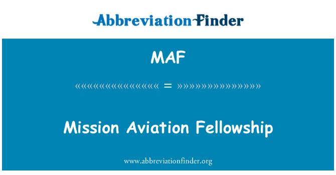 MAF: Mission Aviation Fellowship