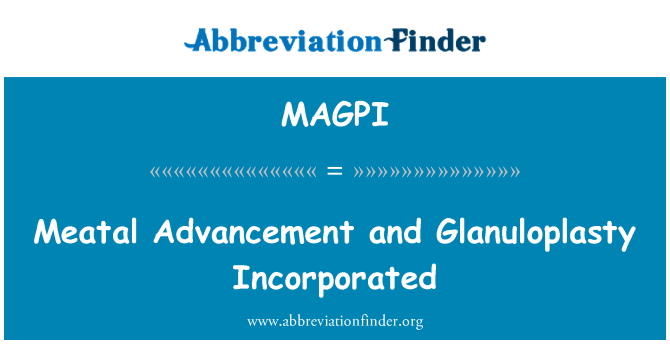MAGPI: Meatal Advancement and Glanuloplasty Incorporated