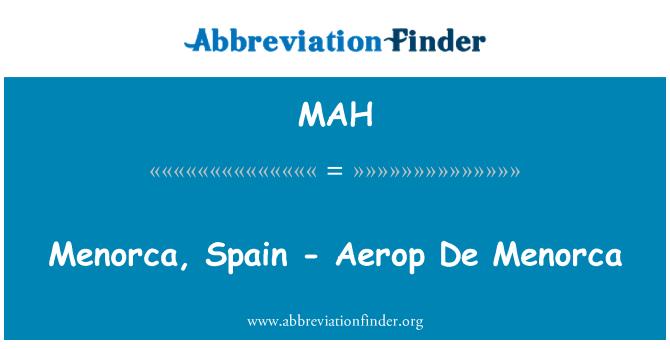 MAH: Menorca, Spain - Aerop De Menorca