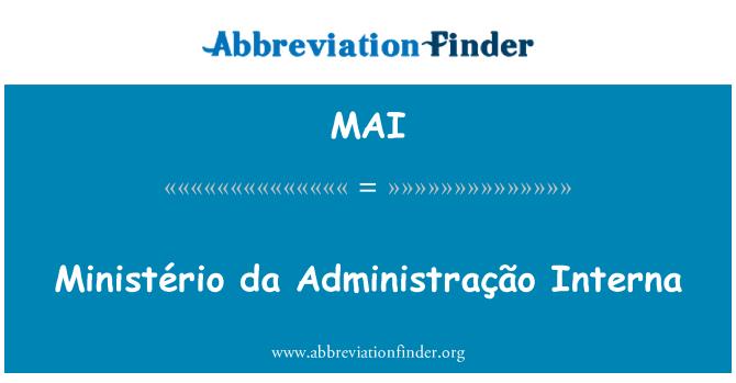 MAI: Ministério da Administração Interna