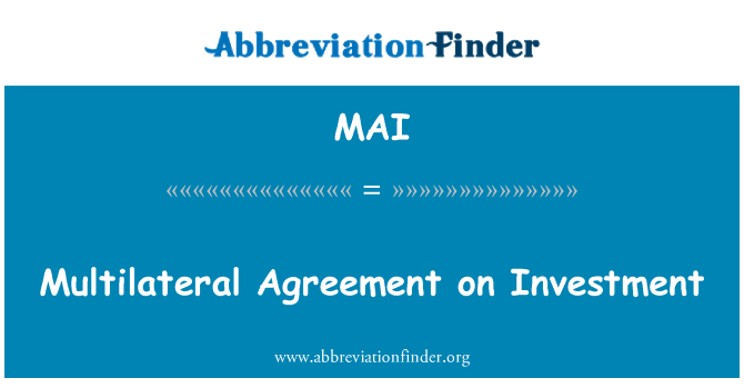 Mai Multilateral Agreement On Investment
