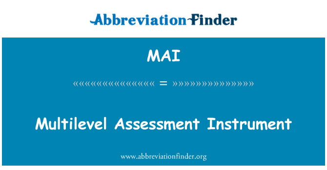 MAI: Multilevel Assessment Instrument