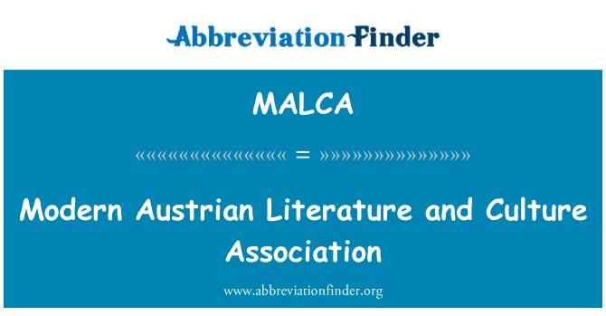 MALCA: Modern Austrian Literature and Culture Association