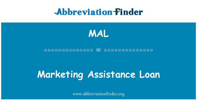 MAL: Marketing Assistance Loan