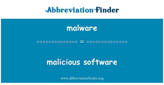 malware: škodlivý software