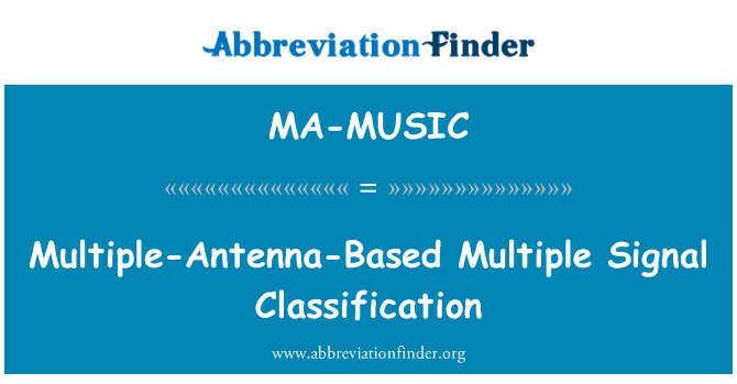 MA-MUSIC: Multiple-Antenna-Based Multiple Signal Classification