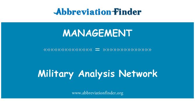 MANAGEMENT: Askeri analizi ağ
