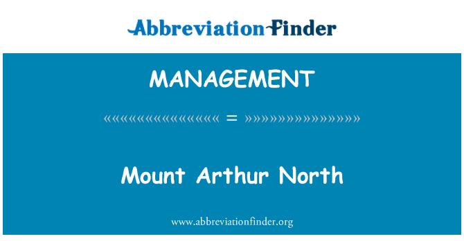 MANAGEMENT: Arthur North mount