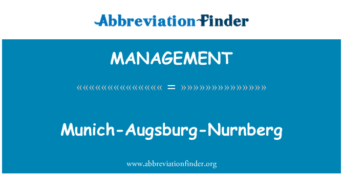 MANAGEMENT: Münih-Augsburg-Nurnberg