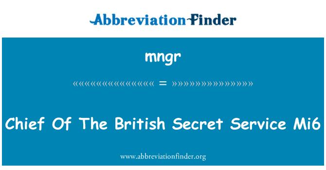 mngr: 英国的特勤局 Mi6 的首领
