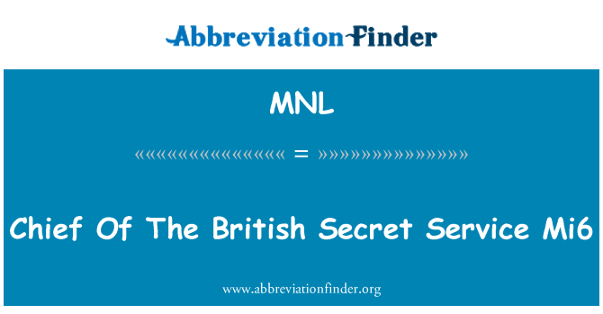 MNL: Ketua Mi6 British agensi Perkhidmatan rahsia