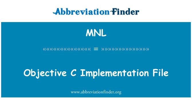 MNL: 目标 C 实现文件