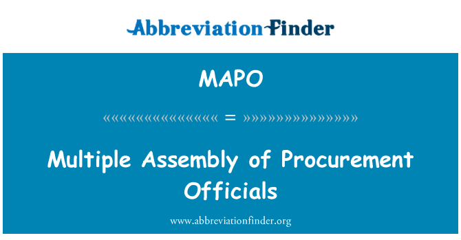 MAPO: Multiple Assembly of Procurement Officials