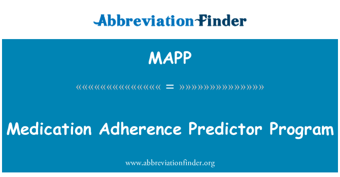 MAPP: Programa de medicamentos adherencia Predictor