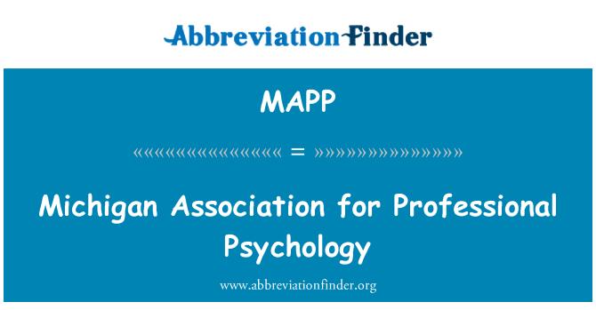 MAPP: Michigan Szövetség szakmai pszichológia