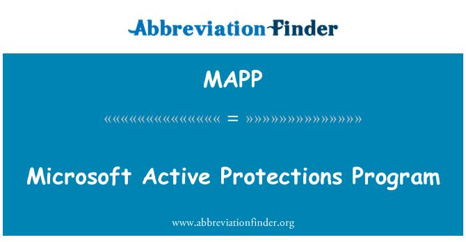 MAPP: Programa de protecciones de Microsoft Active