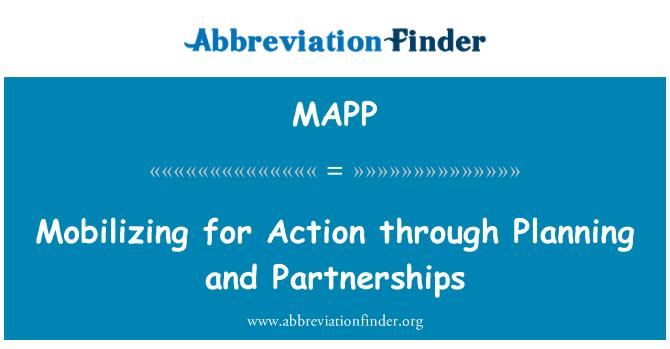 MAPP: Movilización para la acción a través de planificación y alianzas