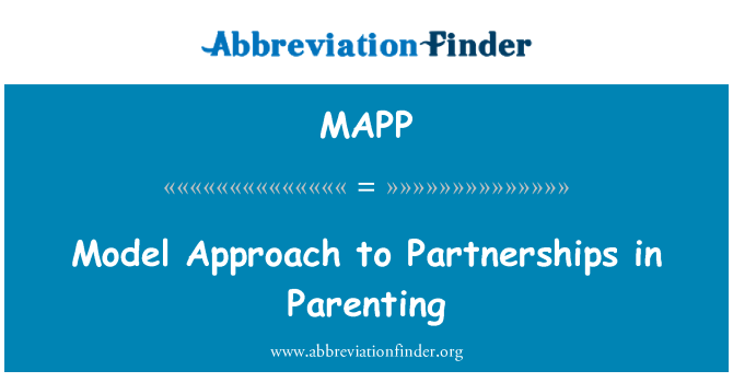 MAPP: Model Approach to Partnerships in Parenting