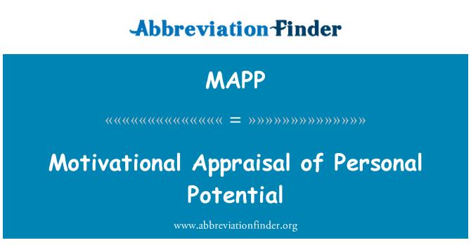 MAPP: Valoración motivacional del potencial Personal