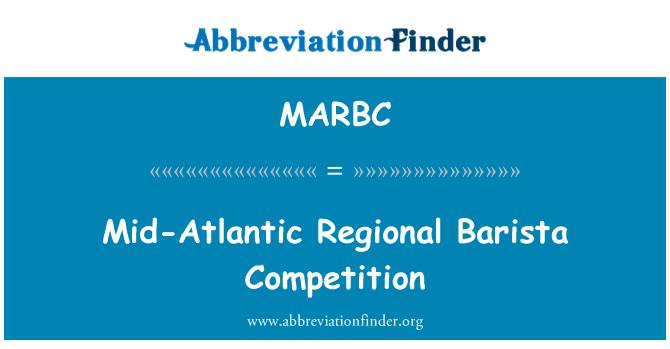 MARBC: Mid-Atlantic Regional Barista Competition