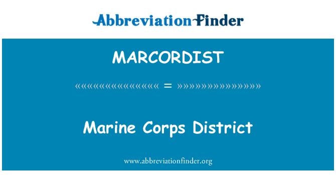 MARCORDIST: Marine Corps District