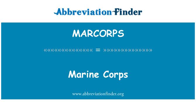 MARCORPS: Marine Corps