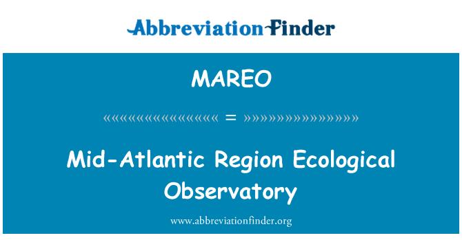 MAREO: Mid-Atlantic Region Ecological Observatory