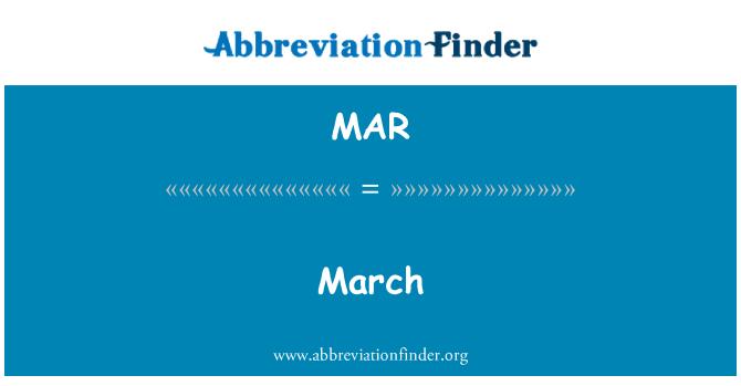 MAR: March