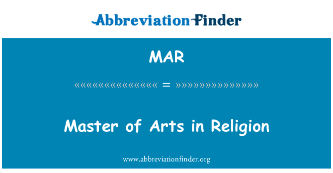 MAR: Master of Arts in Religion