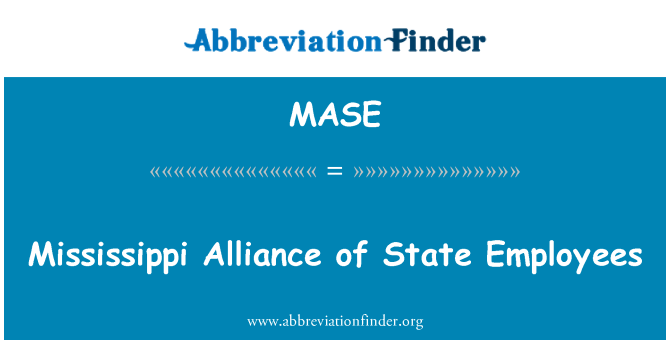 MASE: Mississippi Alliance of State Employees