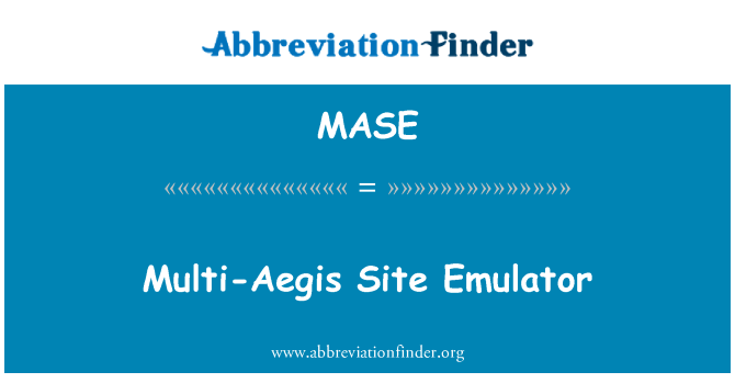 MASE: Multi-Aegis Site Emulator