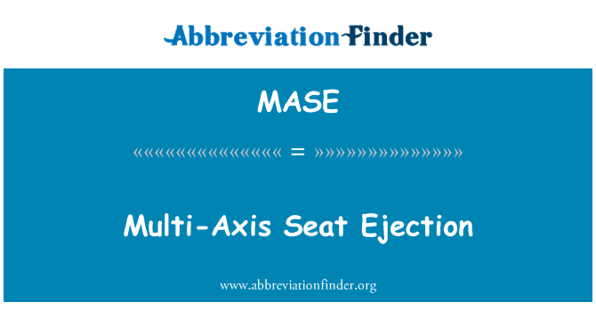 MASE: Multi-Axis Seat Ejection