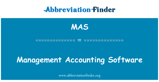 MAS: Management Accounting Software