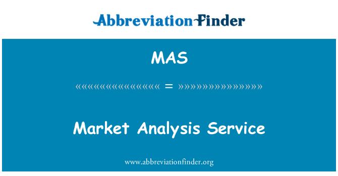 MAS: Market Analysis Service