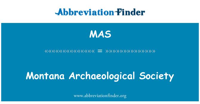 MAS: Montana Archaeological Society