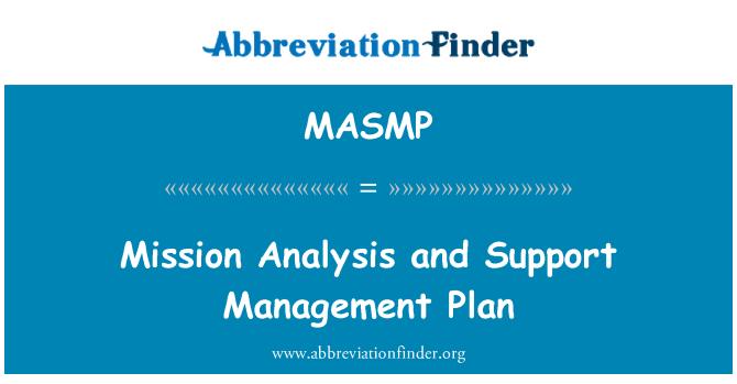 MASMP: Görev analizi ve destek yönetim planı