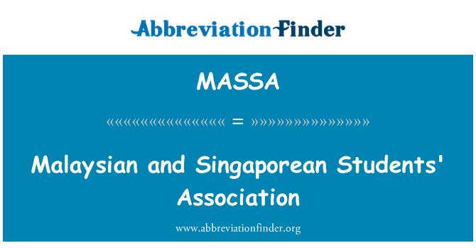 MASSA: Malaysian and Singaporean Students' Association