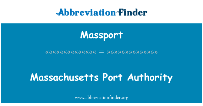 Massport: Massachusetts Port Authority