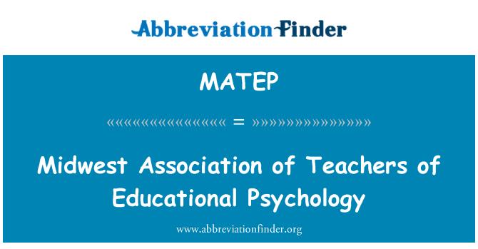 MATEP: تعلیمی نفسیات کے اساتذہ کی مادویسٹ ایسوسی ایشن
