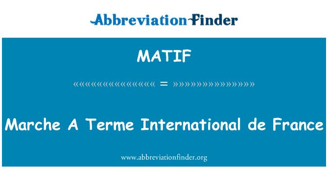 MATIF: Markė A Terme International de France