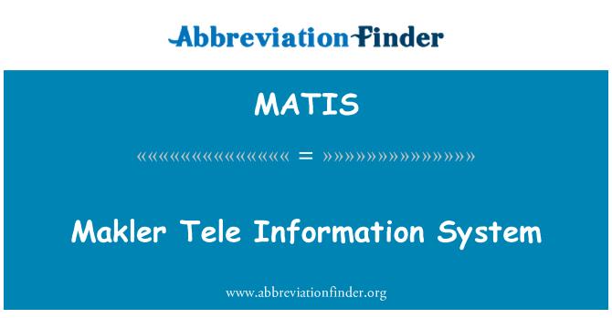 MATIS: Sistema de información de Tele Makler